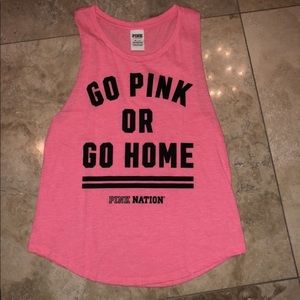 Go PINK or go home workout tee